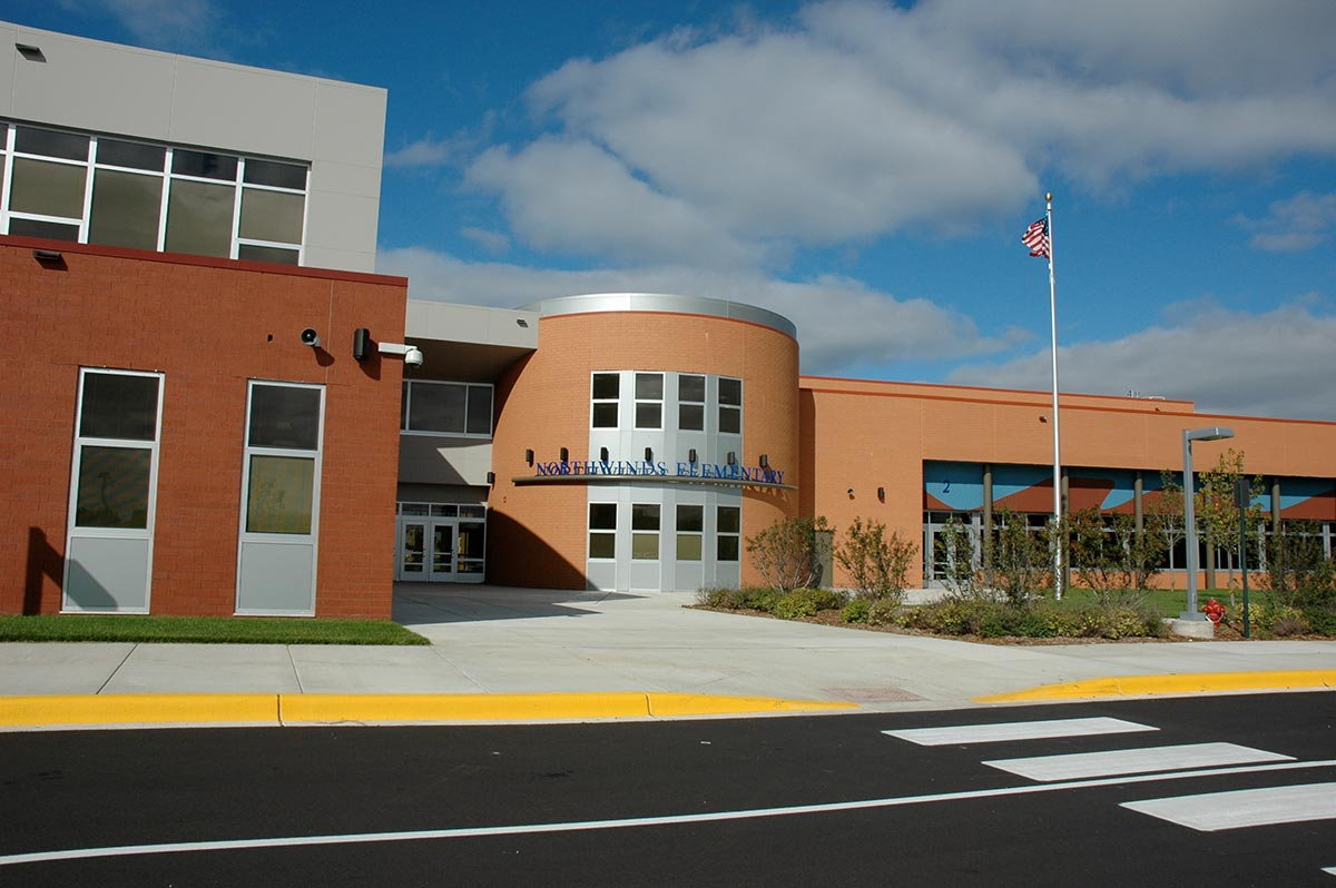 Northwinds Elementary School exterior in Buffalo MN