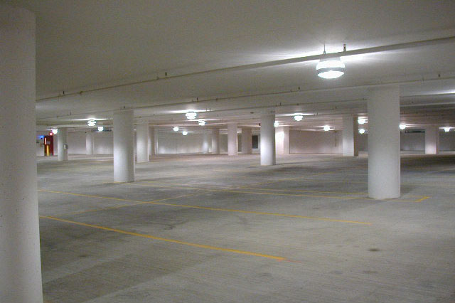 Interior painting of parking garage